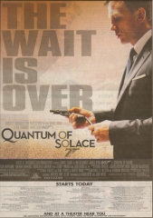 Quantum of Solace Opening Day Ad Scan
