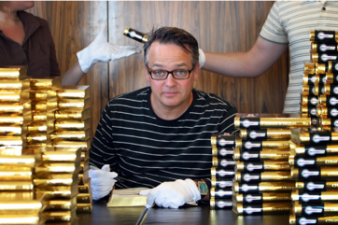 Charlie Higson with what appears to be carpal tunnel....